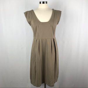 Banana Republic Stretch Tan Brown Dress. Size 10